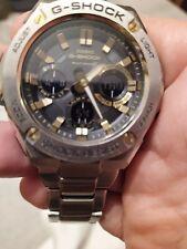 Reloj cronógrafo Casio G-acero conectar triple Bluetooth GST-B100 1A9ER RRP £ 399