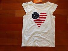 Gymboree size 10 NEW NWT America's Sweetheart Flag Heart short sleeve top shirt