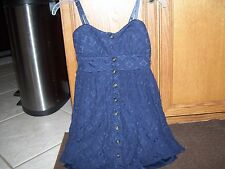 Junior girls dress by Three Pink Hearts in size small, navy blue, great shape.