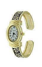 Urban Gold Plated Women's Bracelet Bangle Watch Antique Vintage Style Oval Shape