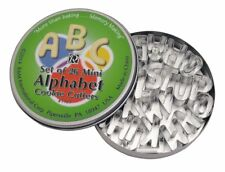 MINI ALPHABET 26 PIECE COOKIE CUTTER SET WITH TIN FROM R&M INTERNATIONAL