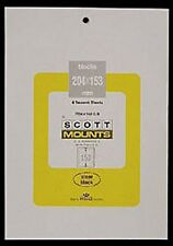 Prinz Scott Stamp Mount 204/153 - BLACK Background - Pack of 5