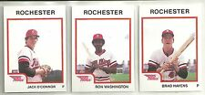 1987 Pro Cards Rochester Red Wings 27-card Minor League Team Set  Ron Washington
