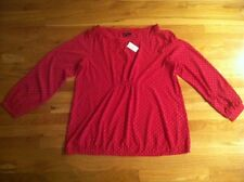 GAP MATERNITY RED DOT BLOUSE ORG. $49.95 SIZE XLARGE BNWT
