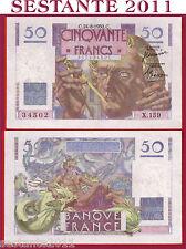 #  FRANCE / FRANCIA  50 FRANCS 24.8. 1950 RARE, P 127c,   SPL++ / XF++