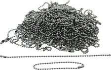 "100 Pack - Silver Stainless Steel Long Fashion Bead Chain Necklace (4.5"")"