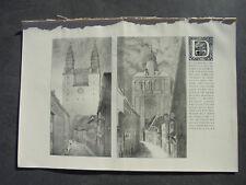 1912 Bauzeitung r4 / Freiburg Dom / Zentralheizung in Wohnungen