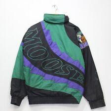 Vintage Minnesota Moose Lee Sport IHF Insulated Jacket Size Medium Green Black
