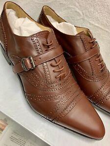 Men's Vivienne Westwood brown laceup monkstrap shoes 43IT 10US Italy