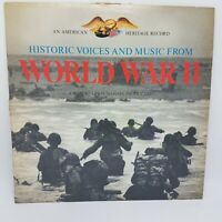 Vintage World War II Historic Music & Voices LP Record Heritage Record VG+ / VG+