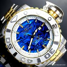 Invicta Sea Hunter Gen II Blue Abalone Diamond Auto 70mm 2 Tone Steel Watch New