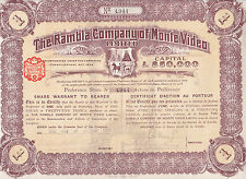 The Rambla company of Montevideo Limited-share warrant to Bearer - 1911