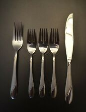 Cambridge Swirl Sand Stainless Flatware 5 pc Fork Salad Forks Knife