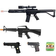 5 PIECE SPRING AIRSOFT GUNS SET SNIPER RIFLE + RIFLE + 2 PISTOLS 6mm BB Bundle