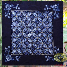 "Handmade Indigo Tie Dye Rural Style Tablecloth Table Cover Tapestry 43""x43"""