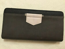 Accessorize Grey PU Faux Leather Long Wallet Clutch Purse