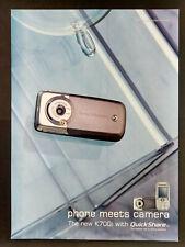 Sont Ericsson K700i - Mobile Phone / Camera - Magazine Advert #B3985