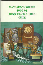 VINTAGE 1990 – 1991 MANHATTAN COLLEGE MEDIA GUIDE - TRACK AND FIELD - ATHLETICS