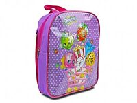 Shopkins 'Purple' Pvc Front School Bag Rucksack Backpack Brand New Gift