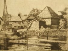 C. A. Blackford pencil signed etching 'Fordwich, Kent' 1900's
