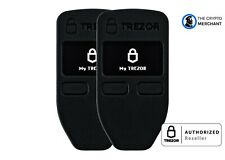 2 Pack Trezor One Black Bitcoin Ethereum Hardware Wallet, AUTHORIZED RETAILER