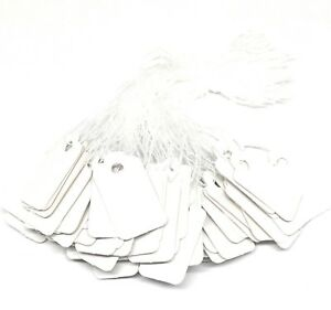 white price tags for jewelry crafts and more 23mm x 13mm paper string