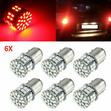 6 Pcs Red 1156 BA15S 50 SMD 1206 LED Car Tail Brake Turn Signal Backup Light USA