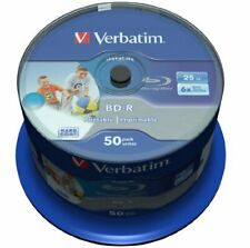 50 x Verbatim BD-R Blu-Ray 25GB Rohlinge 6x Speed Printable bedruckbar Spindel
