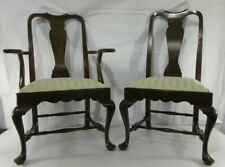 Lot of 2 Vintage Henkel Harris Queen Anne Genuine Mahogany Dining Chairs 104 S