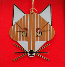 Charlie/ Charley Harper - Brass Christmas Ornament - Fox - fun animal art
