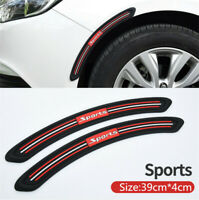 2Pcs Rubber Bumper Protector Car Styling Anti Collision Fender Flares Edge Guard