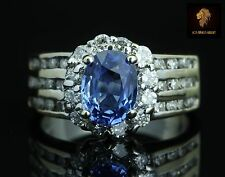$5950 / NEW / Levian / 18K Gold / AAA Royal Blue Ceylon Sapphire & Diamonds Ring