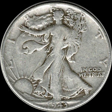 A 1943 P Walking Liberty Half Dollar 90% SILVER US Mint (Exact Coin Shown) R72