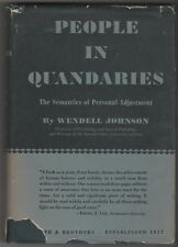 1946 People In Quandaries: The Semantics Of Personal Adjustment by W. Johnson
