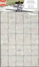 Busch Concrete Slab Sheets 7412 HO & OO Scale