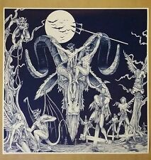 "Satanic Baphomet Crucifixtion 24""x24"" Evil Art Fantasy Devil Satan Halloween"