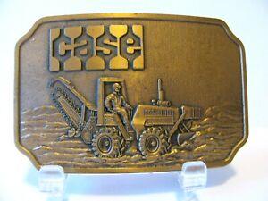 Vintage Case DH7 Trencher Tractor Backhoe Digger Brass Belt Buckle Construction