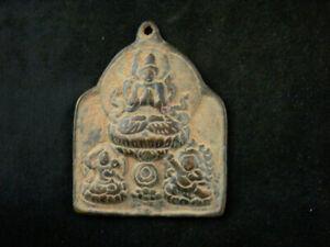 Excellent Tibetan Bronze Hand Made *3Buddhas* Pendant FF023