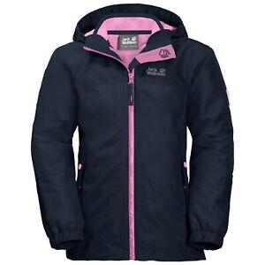 Jack Wolfskin Girls Iceland 3in1 Jacket midnight blue Gr. 128 Mädchenjacke blau