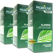 3x Palmolive Classic Shave Shaving Stick With Palm Extract 50g