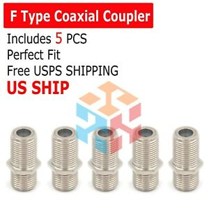 5-Pack F Type Coax Coaxial Cable Coupler Female Jack Adapter Connector M380