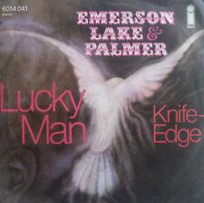 """7"""" 1970 1st PRESS VG +++ Emerson Lake & Palmer Lucky MAN"""