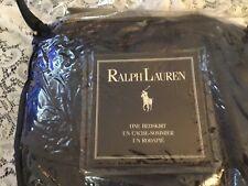 """Ralph Lauren Home, Navy Blue Calif. King Bedskirt, 100% linen, 14"""" Drop, USA"""