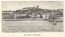 B1813 Desenzano del Garda - Panorama - Incisione antica del 1925 - Engraving