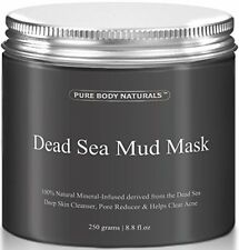 Pure Body Naturals Beauty Dead Sea Mud Mask For Facial Treatment, 250g / 8.8