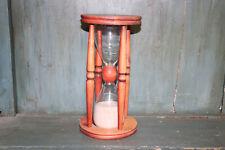 Grand Sablier Ancien En Bois et verre  1 Minute 40 secondes
