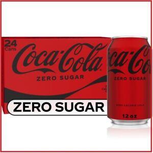 Coke Zero Sugar Diet Soda Soft Drink 12 fl oz 24 Pack NEW
