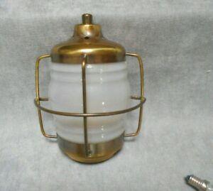 vintage French brass Wall Light Fixture- half circular light-