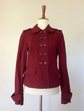 Anne Taylor Loft Light Weight Military Jacket Red XS