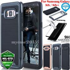 Hybrid Tempered Glass + Acrylic Hard Case Cover Skin F Samsung Galaxy S8 S8+